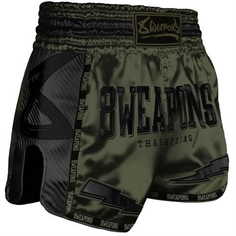 pantaloncino muay thai carbon 8 weapons OLIVA