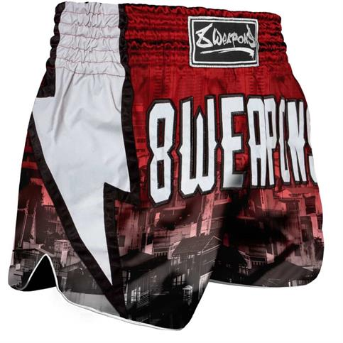 pantaloncino muay thai lightning 8 weapons ROSSO