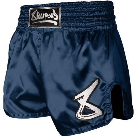 pantaloncino muay thai strike 8 weapons NAVY/BIANCO