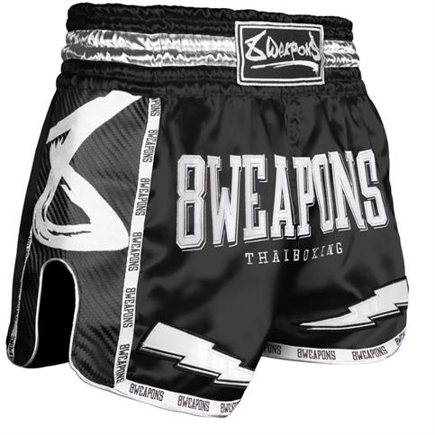 pantaloncino muay thai carbon 8 weapons NERO