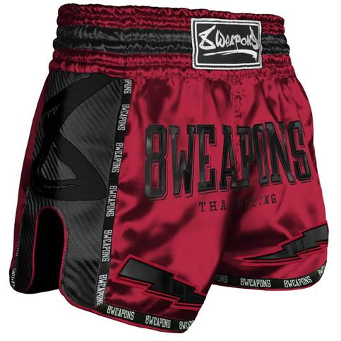 pantaloncino muay thai carbon 8 weapons ROSSO